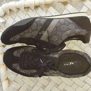 Coach sneakers blk n gray size 10b